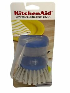 KitchenAid Soap-Dispensing Palm Brush  Ocean Blue. New