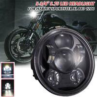 """5-3/4"""" 5.75 Zoll Motorrad 9 LED Scheinwerfer Für Harley Sportster XL 883 1200"""