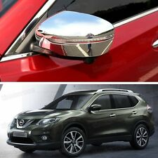 2Pcs Chrome Side Mirror Caps Covers Trim Molding for Nissan X-Trail Rouge 14 15