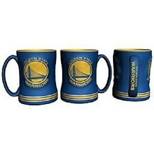Golden State Warriors Coffee Mug Relief Sculpted Team Color Logo  14 oz NBA