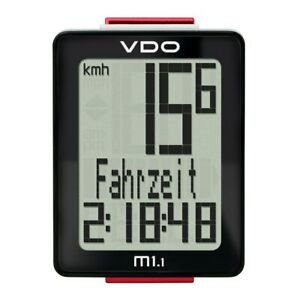 VDO M1.1 WR  5 Functions Bike Cycle Computer - wired 2016 - Speed /Distance/Time