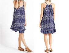 M & S Ladies Navy Shard Print Flippy Summer Beach Dress- Size 8, 10, 20, 22