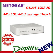 Netgear GS205 5 Port Gigabit Desktop Switch