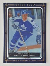 2008-09 UPPER DECK MASTERPIECES BORJE SALMING 5X7 BOXTOPPER MAPLE LEAFS XL-BS