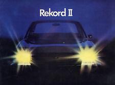 Catalogue brochure prospekt Opel Rekord D (Rekord II) français 1972