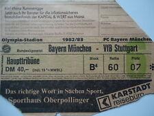 TICKET BL 1982/83 Bayern München - VfB Stuttgart