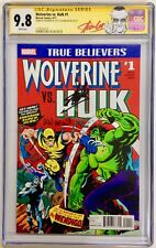 Stan Lee Len Wein Signed CGC 9.8 Signature SS Wolverine Hulk #1 True Believers