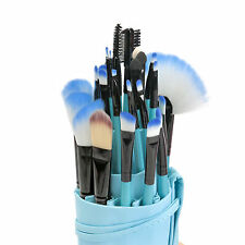 Blue 32pcs Cosmetic Brush Soft Eyebrow Shadow Makeup Brush Set Kit+Case 100% New