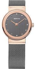 BERING Armbanduhr Damen 10126-369 Rose`Gold Grau Swarovski Kristalle
