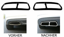 Black Chrome Stainless Steel Exhaust Cover Tip Cover Audi A6 C7 A7 A12