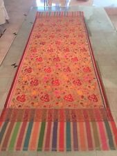 100% Genuine Pashmina Shawl with Silk Outlays. Hand Woven in Indian Kashmir