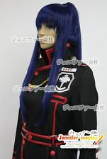 D.Gray-Man Yuu Kanda Cosplay Wig Costume Blue Mix Black