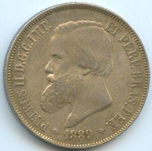 Brazil Petrus II 2000 Reis 1889 Km