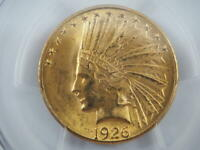 1926 US Gold $10 Indian Head Eagle MS63 PCGS