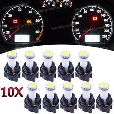 Instrument Panel LED Light Bulbs PC74 T5 Twist Lock Sockets White KIT For Ford