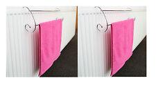 2 x 2 bar chrome TWIN RAIL Séchoir à Linge Intérieur radiateur sèche serviette stand rack