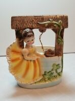 Vintage 1950's Ruebens Originals Girl by the Well planter.