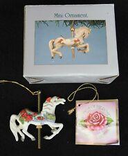 "Vintage Willitts Designs Porcelain Carousel Romance Christmas Ornament ""Love"""