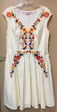 NWOT eShakti Plus Size Women's Embroidered Dress 1X 18W