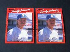 2 for 1 1990 Donruss MLB Baseball RANDY JOHNSON #379 Cards Seattle Mariners HOF