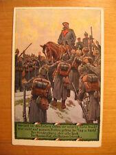 ~1916 AK Hindenburg Soldatenliederpostkarte No.11 Wer hält im deutschen Osten