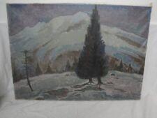 Gemälde einer winterlichen Landschaft signiert F. Schott / Schweiz !