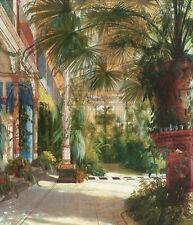 The Palm House by Carl Blechen Art Print Large Tropical Garden Poster 24x30
