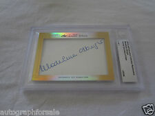 Madeleine Albright 2014 Leaf Masterpiece Cut Signature 1/1 signed auto card JSA