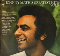 JOHNNY MATHIS greatest hits volume 3 64651 uk cbs LP PS EX/EX with inner sleeve