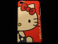 Hello Kitty Cover Case for iPod Touch 4th Gen Large Hello Kitty Red Background