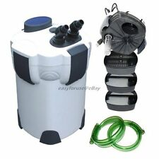 3 STAGE EXTERNAL CANISTER AQUARIUM FILTER w/ 9 WATT UV STERILIZER  375GPH