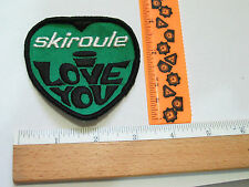 Skiroule Snowmobile Patch , Vintage I Love You Patch
