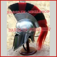 Medieval Collectible Roman Greek Corinthian Armour Helmet Plume FREE Stand