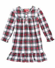 Macys Family PJs Girls Stewart Plaid Red Nightgown Pajamas Holiday Sz 2T 3T Xmas