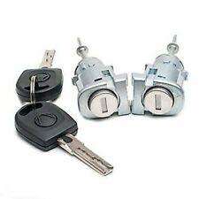 VW Passat B5 96-05 VW Lupo Front LH Passenger & RH Driver Door Lock Barrel Keys