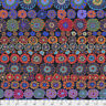 Kaffe Fassett PWGP169 Row Flowers Dark Quilting Cotton Fabric By Yard