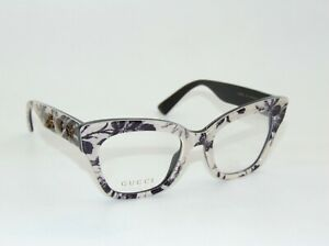 GUCCI GG 0060O 004 Floral Print 49mm Authentic Eyeglasses