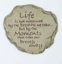 New listing Life Is Not Measured Stepping Stone Hanging Plaque [#12977] by Spoontiques