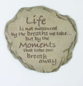 Life Is Not Measured Resin Stepping Stone Wall / Plaque, NIB [12977] Spoontiques