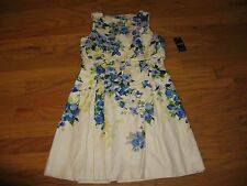 Lauren Ralph Lauren Floral-Print Overlay Dress Size 12 NWT $149