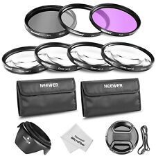 Neewer 55mm Lens Filter and Close-up Macro Accessory Kit for Canon Nikon Sony