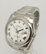 Rolex Datejust  White Roman Dial116200 Stainless Steel Watch 2011 36mm Full Set