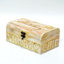Cofanetto portagioie snabby bauletto in legno decorato con tecnica decoupage