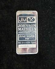 1982 Johnson Matthey 10 oz .999 Silver Bar Escalante Mine-Ranchers Exploration
