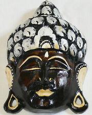 BOUDDHA BOIS MASQUE 19 cm BOUDDHISME ZEN WOODEN BUDDHA STATUE DECO  WOOD