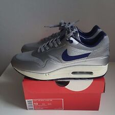 Nike Air Max 1 Hyperfuse QS Metallic Silver Blue 'Night Track' US10 UK9 EUR44