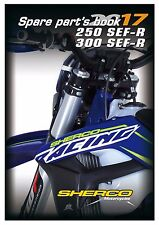 New listing Sherco Parts Manual Book Chassis & Engine 2017 250 Sef-R & 300 Sef-R