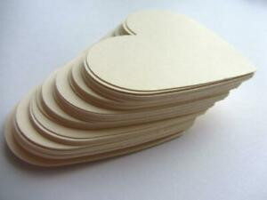 Large Paper Hearts Wedding decoration Tags Die Cut Cards Love Cards 50 pcs