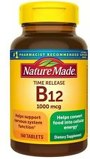 Nature Made Vitamin B-12 1000 mcg Timed Release Tablets 160 ea Nervous Health