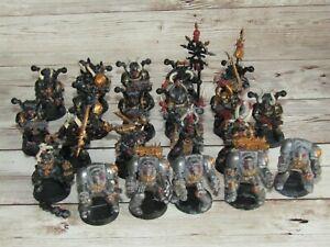 Warhammer 40K  Chaos Space Marines x 16  Terminators x 5 Squad Army
